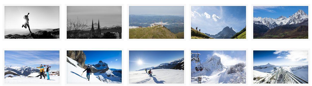 Montagne ete hiver